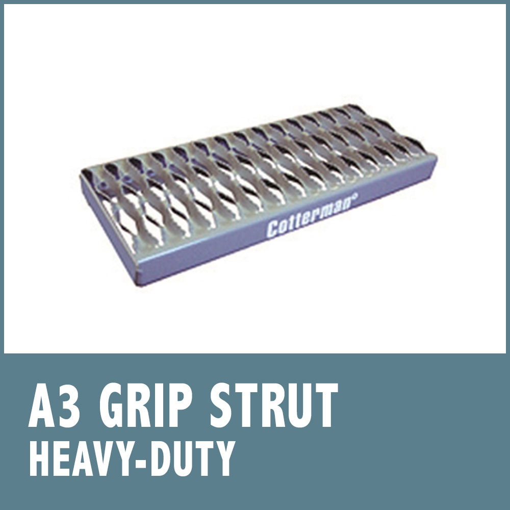 Set-Up Safety Ladders - Grip Strut Tread (A3)