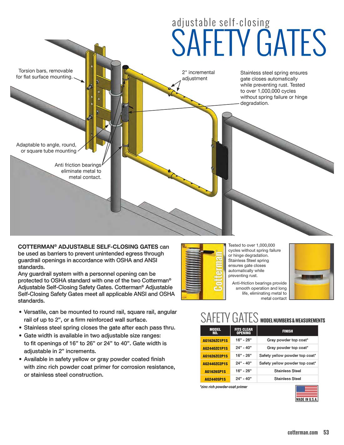 Self-Closing Safety Gate Extended Information